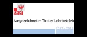 Ausgezeichneter Tiroler Lehrbetreib